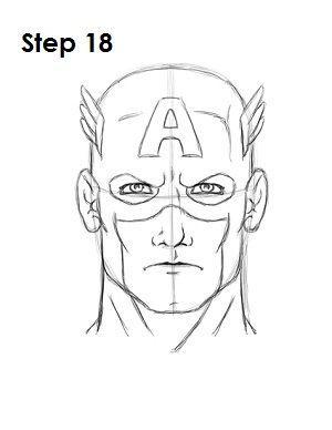 Desenhe O Capitao America Marvel Desenhos Desenho Herois E