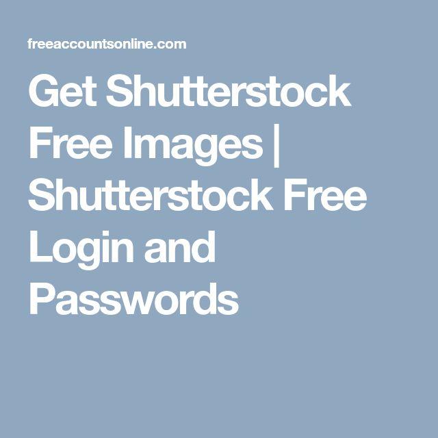 shutterstock username and password