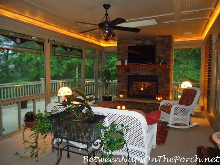 17 best images about screen porch fireplaces on pinterest for Screened porch fireplace designs