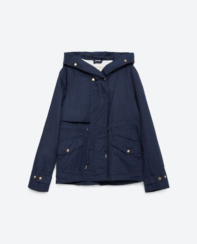 Image 8 of HOODED COTTON PARKA from Zara