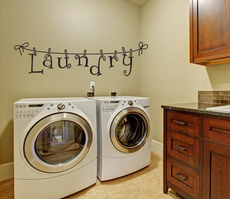 Laundry Wall Decal - Wall Decal - Laundry Room Decor -  Laundry Decal Wall Decals - Wall Vinyl - Vinyl Decal - Wall Decor - Decals - by AmandasDesignDecals on Etsy https://www.etsy.com/listing/201915640/laundry-wall-decal-wall-decal-laundry