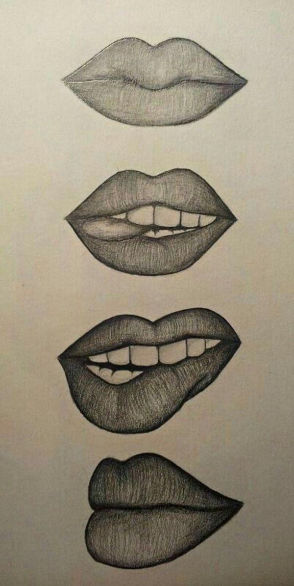 20 Amazing Lip Drawing Ideas Inspiration Brighter Craft Cool Art Drawings Art Drawings Simple Lip Drawing