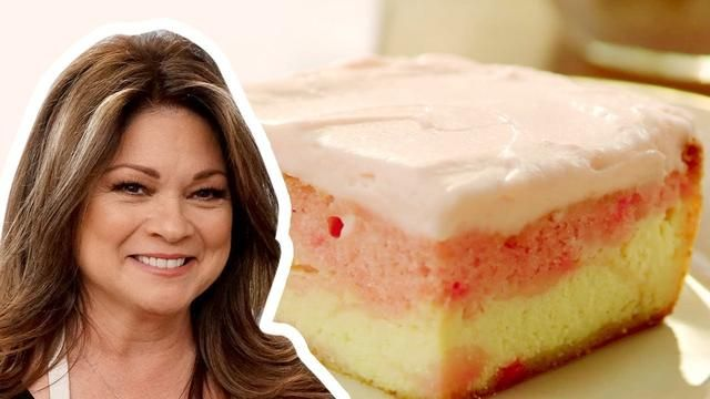 Valerie Bertinelli Makes A Strawberry Love Cake Valerie Bertinelli Love Cake Recipe Food Network Recipes Love Cake Recipe