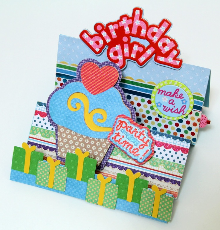 Birthday card idea with step by step pictures