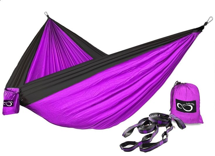Double Lightweight Camping Hammock  Tree Straps