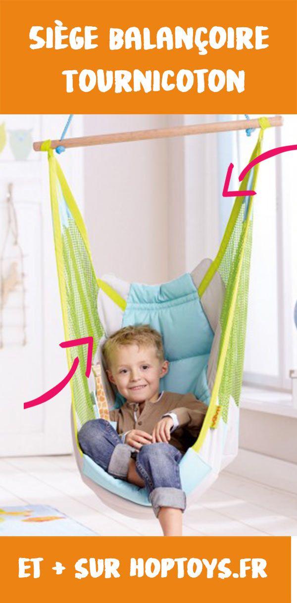 Siège balançoire TournicotonHT2803Ce siège hamac propose une assise confortable grâce au coussin rembourré et au dos matelassé. Il permet de créer facilement un petit coin relaxation pour se ressourcer, lire un livre, se reposer… On peut s'y balancer en douceur dans un léger va-et-vient ou le faire tourner en rond.