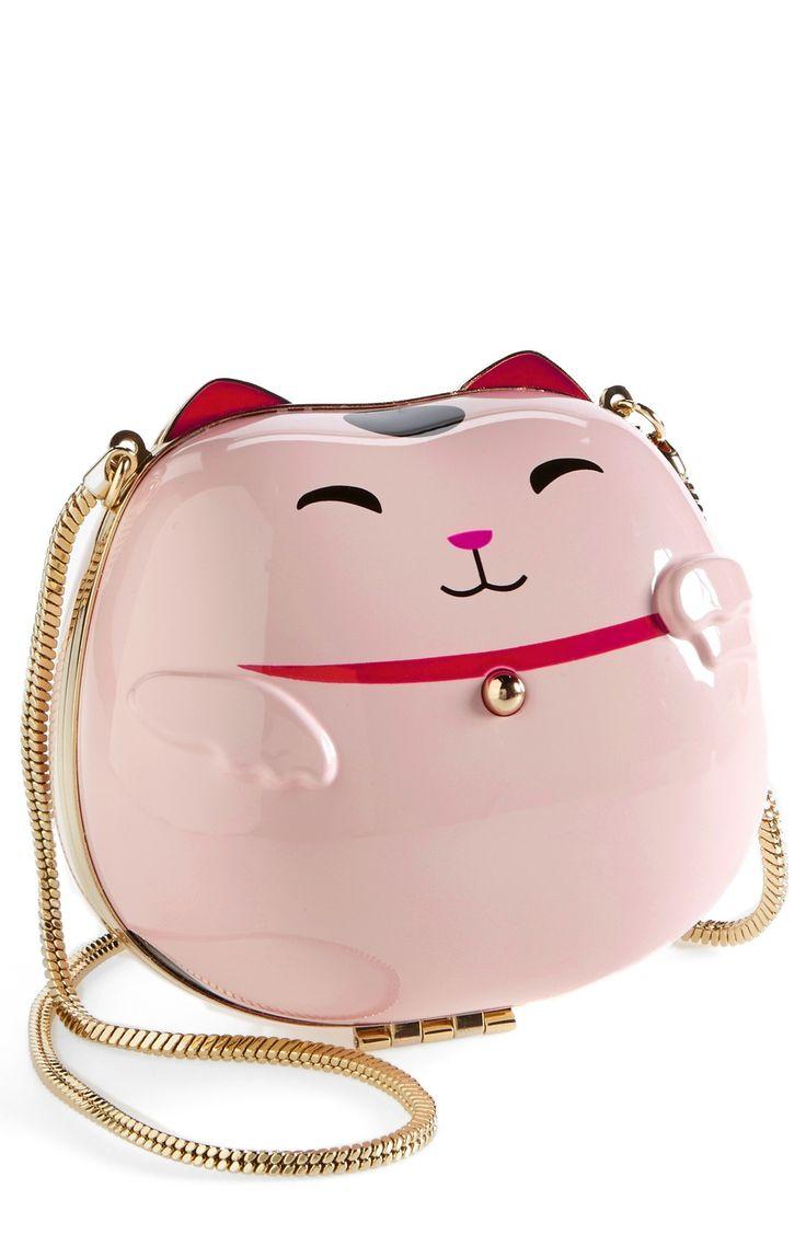 Too cute! Kate Spade 'hello tokyo cat' clutch.