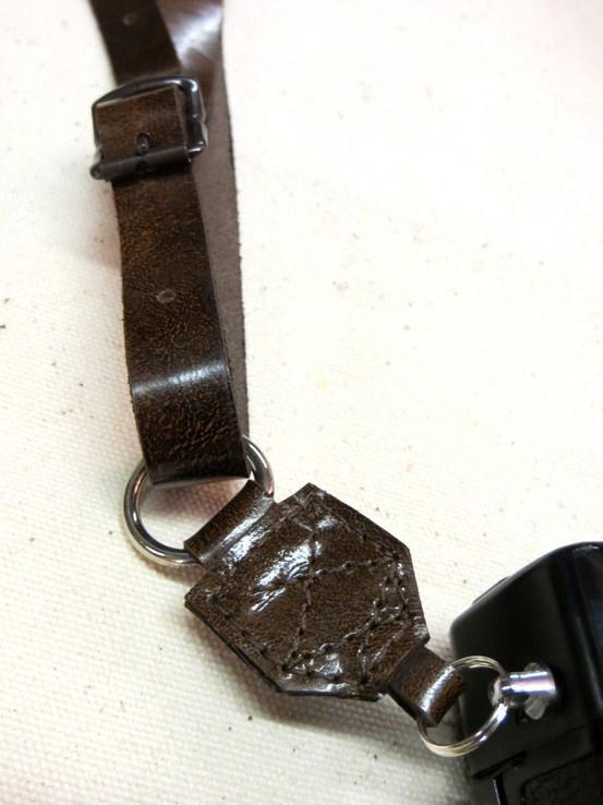 Split Ringed camera straps: detail