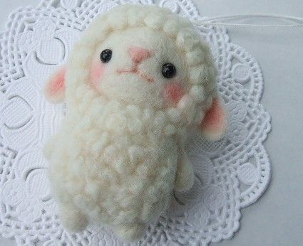 羊毛羊..... ♥ Felt Wool Doll