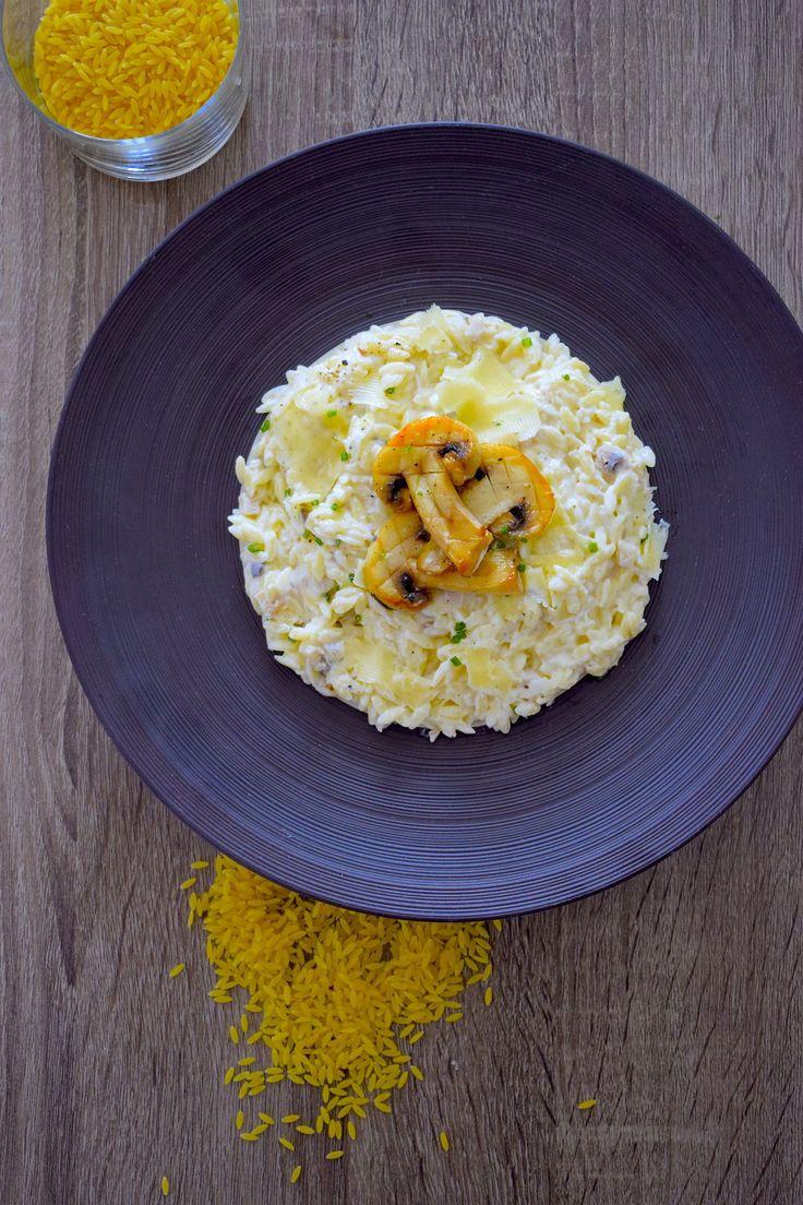Pâtotto de Risoni aux champignons #risotto #ballarini — cyrilrouquet.com