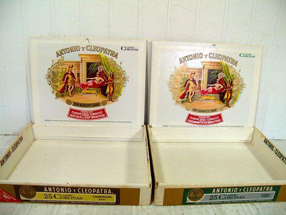 Shallow Cigar Boxes Set of 2 Antonio y Cleopatra Classic