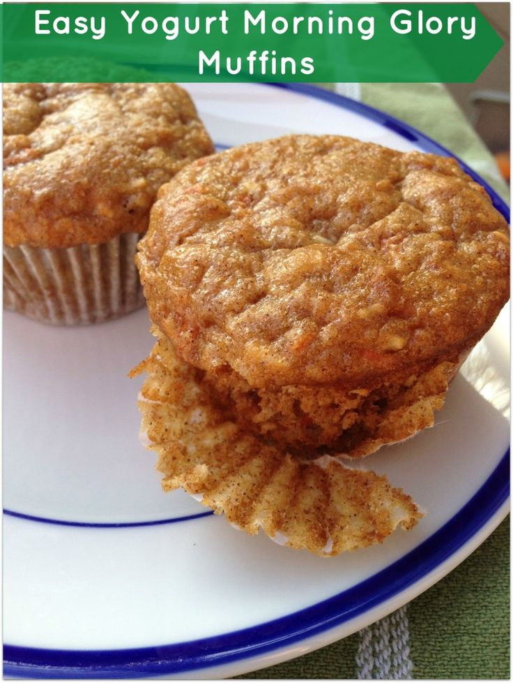 Easy Yogurt Morning Glory Muffins   Recipe   Apple muffins, Muffins ...