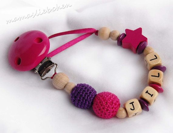 Pacifier clip chain / Dummy holder keeper by mamasliebchen on Etsy, $13.90
