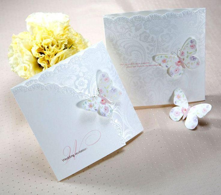 2011 Neue Design Einladungskarte/Hochzeit Einladung/schmetterling Kunst  Prägen Papier Mit Envolope/maßgeschneiderte/free Versand In 2011 Neue  Design ...