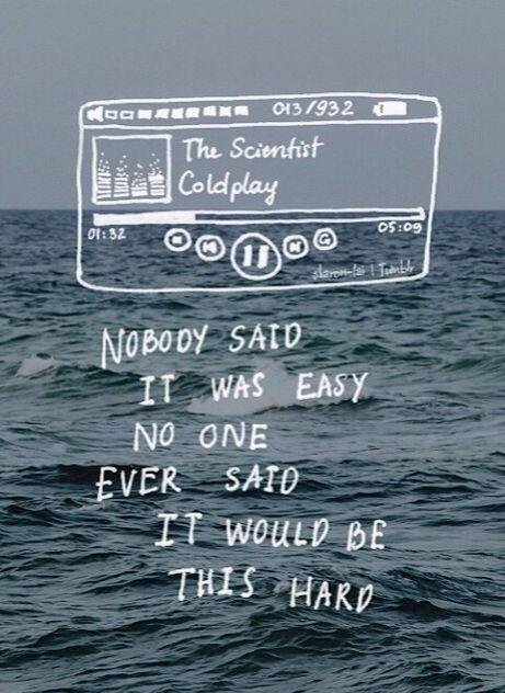 Coldplay lyrics over photo