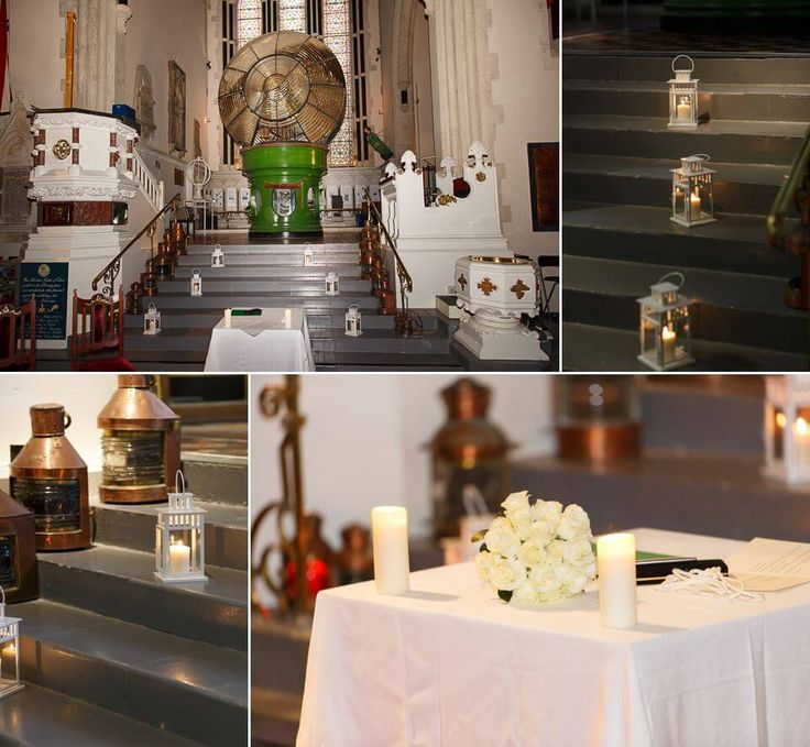 Inside the museum - showing the setup for weddings