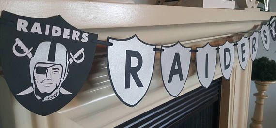 Raiders banner Check out this item in my Etsy shop https://www.etsy.com/listing/538424749/raiders-banner-sports-banner-team-banner