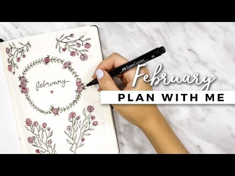 I love everything! ~ PLAN WITH ME | February 2017 Bullet Journal Setup - YouTube