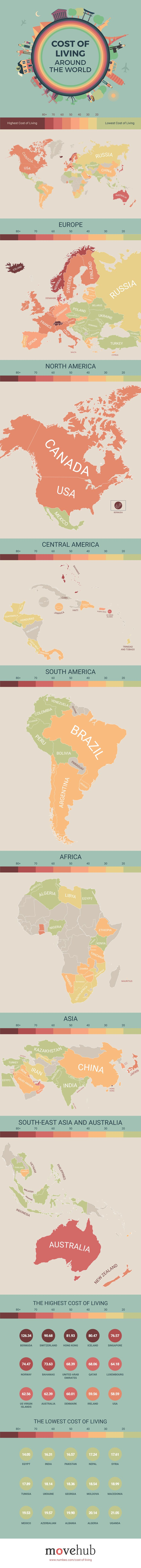 North And South America Blank Map Quiz%0A These maps show the cost of living in every part of the world