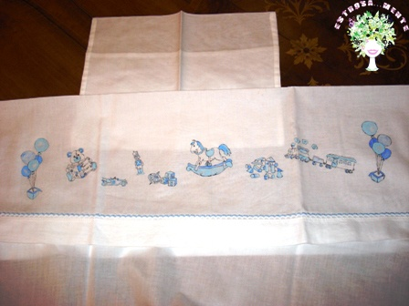 lenzuolino per maschietto dipinto a mano