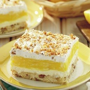 Luscious lemon delight. grandma often doubled this recipe, because we all wanted a second helping.