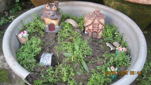 Two fairy houses.