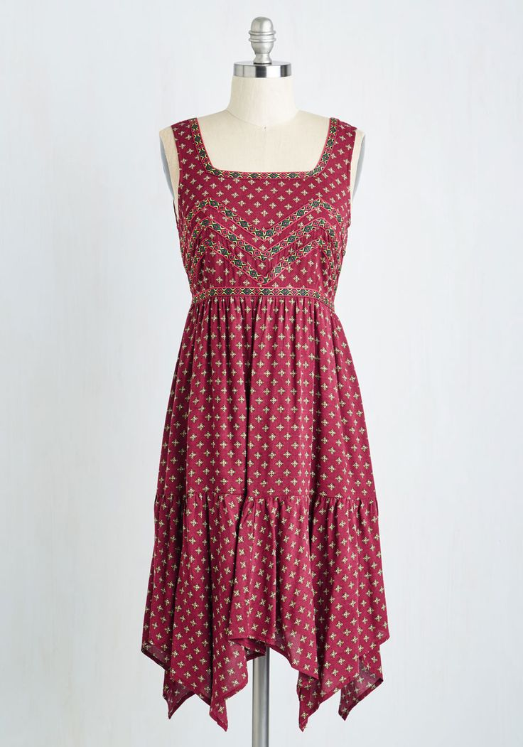 *SOLD* La Belle Boheme Dress, @ModCloth Size 2x, runs small. More like a 1x or xl in the bust. $20. Never worn.