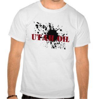 Oilfield Utah Oil Black Stencil Oil Smudge T Shirts