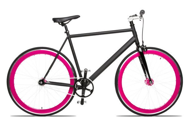 Ooh... love this black & pink bike from Solé Bicycle Co.