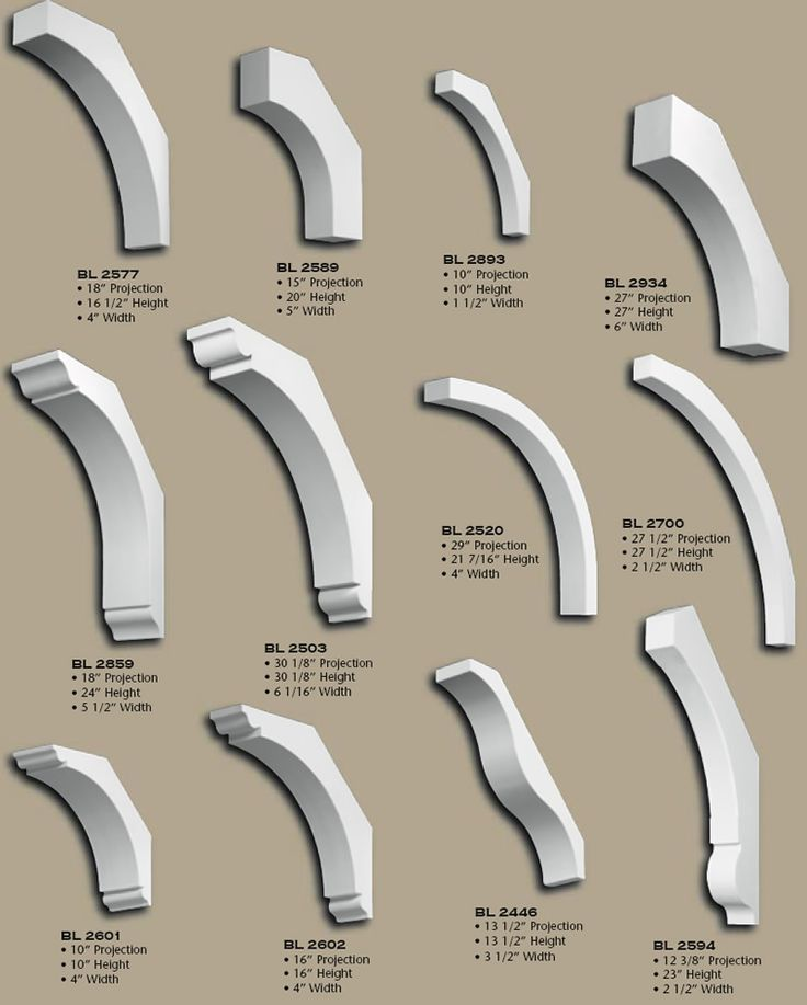 exterior corbels polyurethane. polyurethane simple unframed brackets, pg 2 - although the brackets on this page are shown one way, they can be installed horizontally or exterior corbels