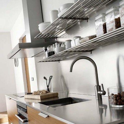 31 Practical Kitchen Rail Storage Ideas | Shelterness