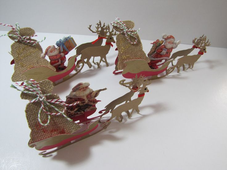 Christmas sleighs 2014 cards amp paper projects pinterest