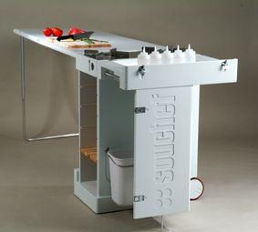 Portable fold out kitchen
