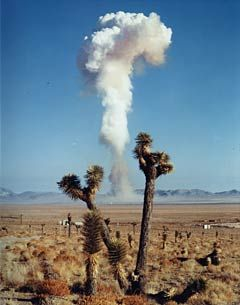 "Mushroom cloud photo; Courtesy of the National Nuclear Security Administration/Nevada Site Office  (Terry Tempest Williams, ""The Clan of One-Breasted Women"")"