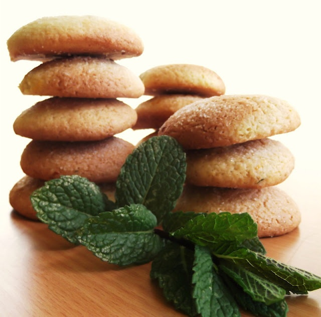 Cookies de Laranja e Hortelã