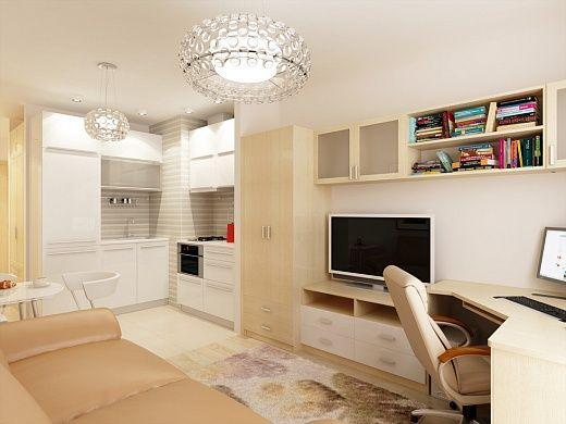 1-но комнатная квартира-студия 23.60m²