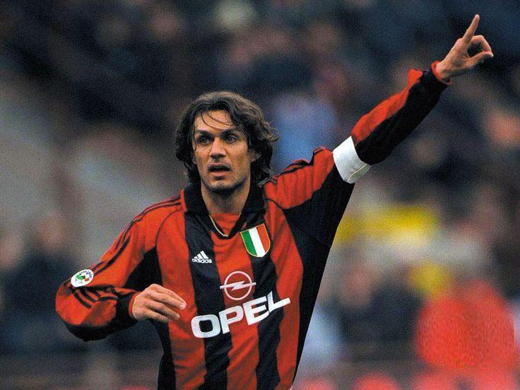 Paolo Maldini. AC Milan legend. the footballing world's best ever center back. He truly symbolizes the term 'Il Capitano'. The Maldini family is Italy's best ever footballing lineage.