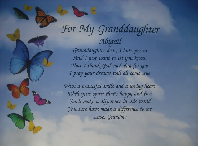 26 Poetic 18th Birthday Quotes: Personalized Poem For My Granddaughter Birthday Or