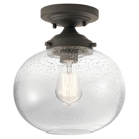Avery 1 light semi flush light olde bronze