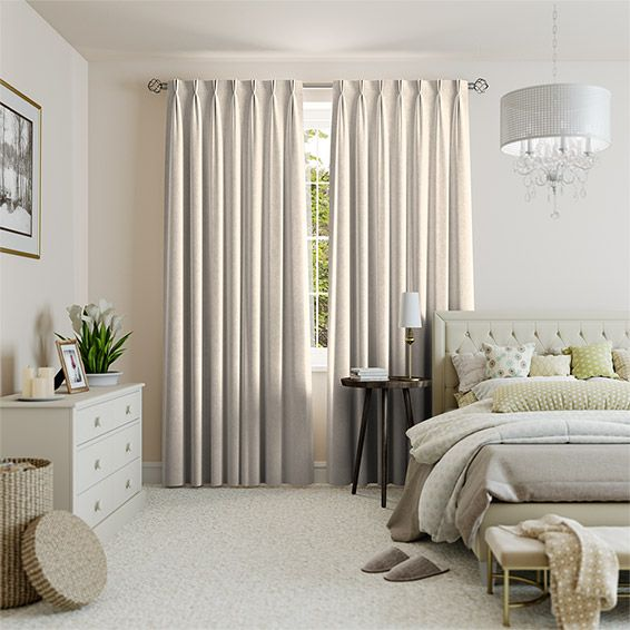 Velvet Soft Cream Curtains