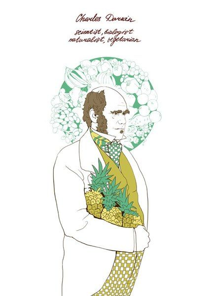 «Чарльз Дарвин». Софья Мироедова. #helloposter #poster #posters #art #modernart #printart #illustrators #illustration