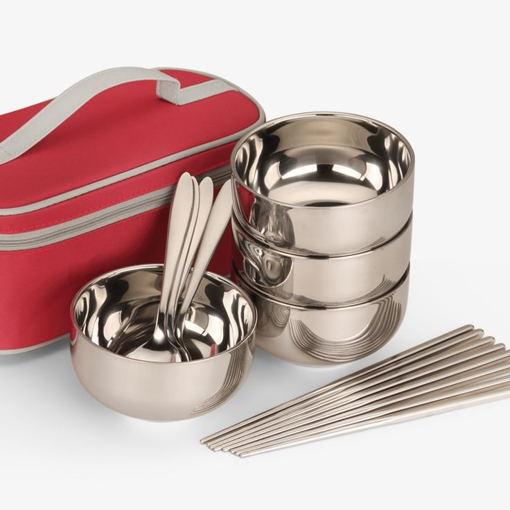 Cheap Stainless Bowl Travel Set Japan Style High Quality Rice Fruits Bowl Safe Facility Stainless Steel Lunch Bowls for Travel