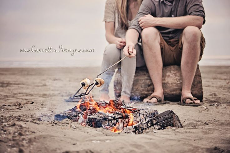 Lifestyle Photography- Marshmallow Roast Portrait (Camellia, meet Baby: My Beautiful Beach Session with the Turners ~ Tacoma Family Photographer)