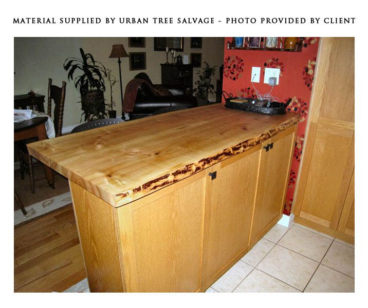 Superior One Of Kind Live Edge Countertop Created By Felled Salvaged And Reclaimed  Toronto Trees. Ready