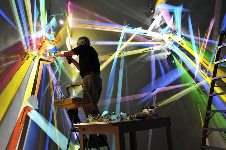 These intricately choreographed dances of light and color are at once static but ephemeral, lasting longer than conventional light graffiti but nonetheless made of impermanent light. Stephen Knapp …