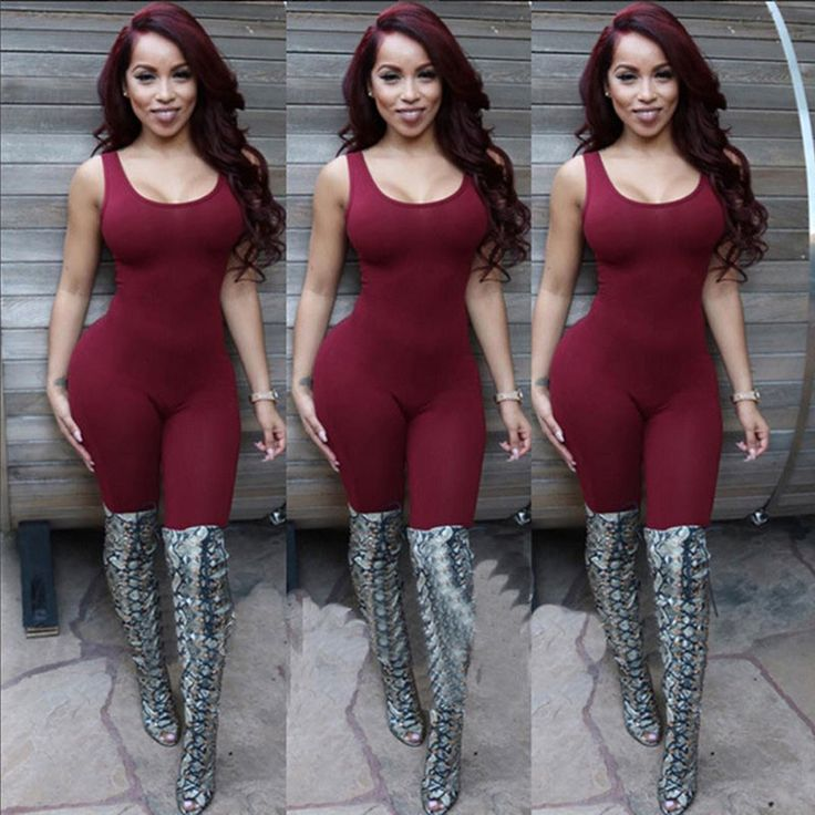 Women Sleeveless Sexy Backless Full Length Bodycon Jumpsuits