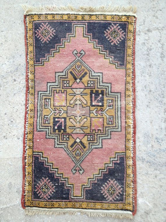Small Rug Turkish Rug Door Mat Woolen Rug Handwoven Rug