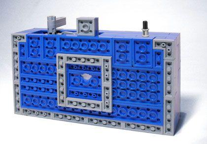 Blue lego Pinhole camera