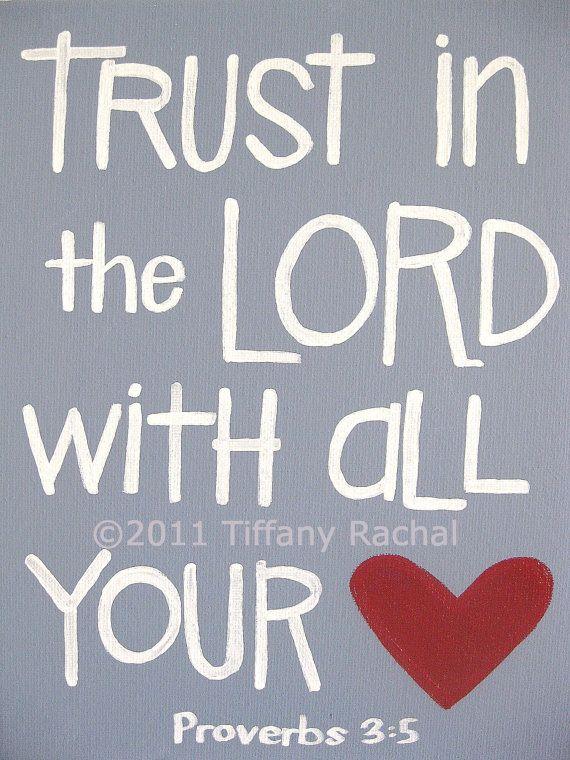 Scripture Art  Inspirational Art  Trust in the by graceforgrace, $18.00