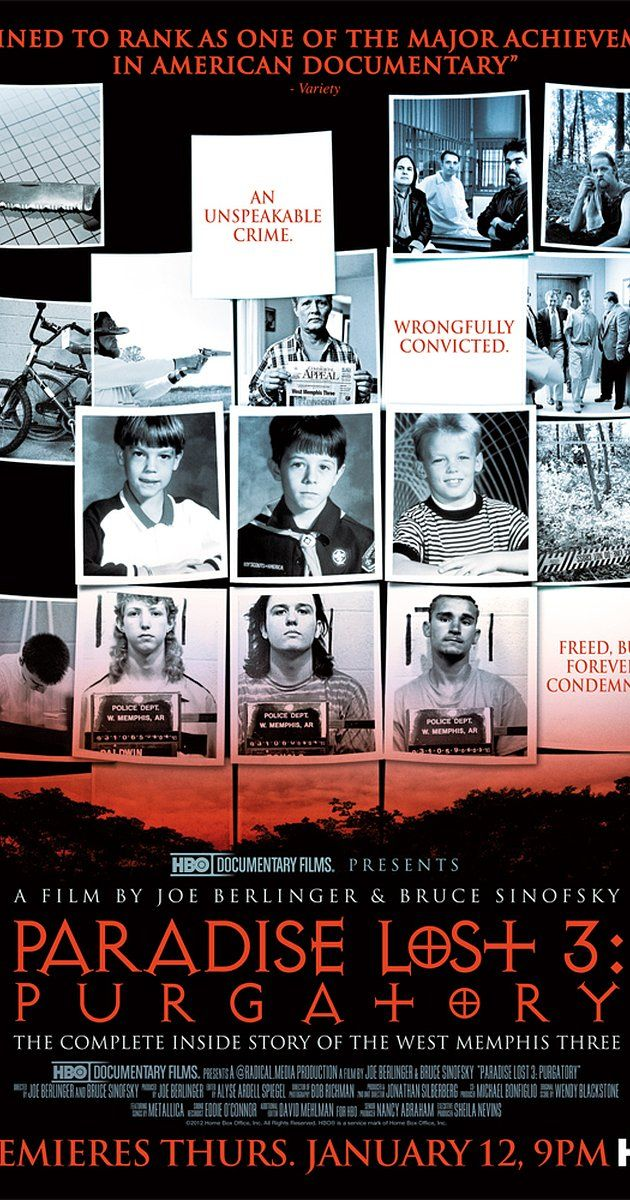 Directed by Joe Berlinger, Bruce Sinofsky.  With Gary Gitchell, Todd Moore, Dana Moore, Pam Hobbs. A further followup of the case of the West Memphis Three and the decades long fight to exonerate them that finally gained traction with new DNA evidence.